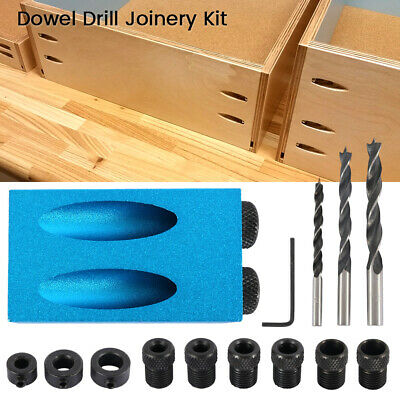 14X Pocket Hole Jig Kit Screw Dowel Drill Sets Silverline Screw Joint Hole Tools