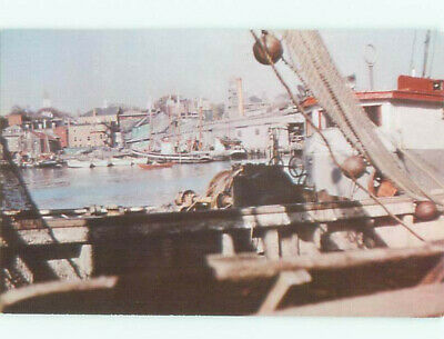Pre-1980 BOATS IN THE HARBOR Gloucester - Near Boston Massachusetts MA AF4596-13