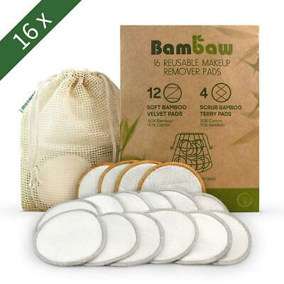 3 Layers Reusable Facial Cleaning Bamboo Wipes Cotton Rounds Makeup Remover Pads