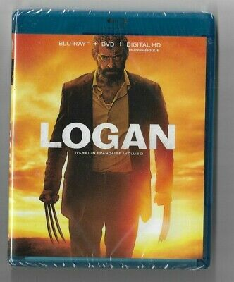 Sealed New Blu-Ray + DVD - Digital HD - LOGAN - Also In French No Slip Cover