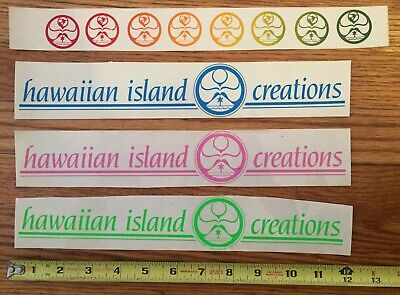 HAWAIIAN ISLAND CREATIONS HIC Hawaii Vintage 80's Surf Surfboard Sticker  Lot 4