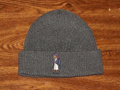 c76450fb7 POLO RALPH LAUREN Bear Logo Wool/Cotton Skull Beanie Hat Cap NWT ...