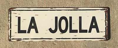 La Jolla San Diego California Beach Surf Surfing Vintage Steel Sign Home Decor