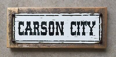 Carson City Nevada Silver Mining Brothel Vintage Western Steel Sign Home Decor
