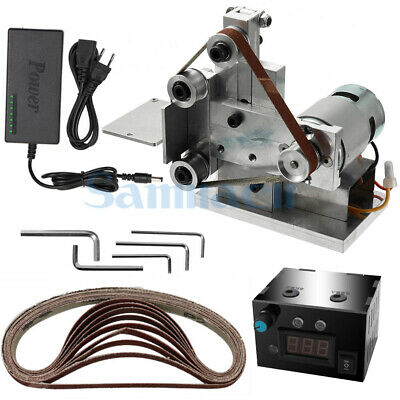 DC 12V-24V 20mm Belt Desktop Grinder With Power Supply Speed Governor