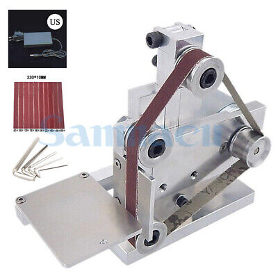 DC 12V-24V 20mm Belt Sanding Machine With Power Supply For Polishing