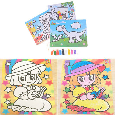 DIY Sand Painting Drawing Coloring Toys Kids Learning Education Toy IO
