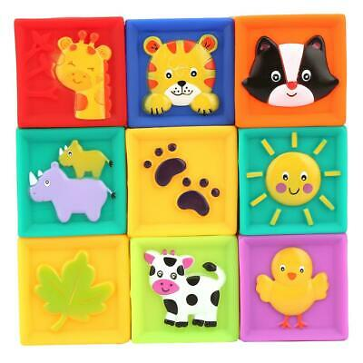 Baby Building Blocks Soft Squeeze Stack PVC Toy Educational HOT SALE