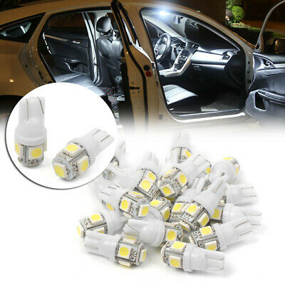 20x T10 Wedge 5-SMD 5050 LED Interior Light Bulbs Super White W5W 192 168 194 st