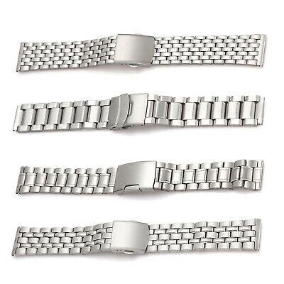 Wrist Watch Band Stainless Steel Strap Bracelet Folding Clasp 18/20/22mm