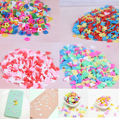 10g/pack Polymer clay fake candy sweets sprinkles diy slime phone supplies.