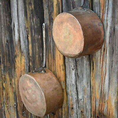Antique Victorian Large Copper Mores & Lucca New street London Saucepan Pan