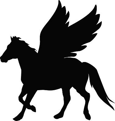 Window Wall Display Flying Horse Pegasus Silhouette Decal Vinyl Sticker Craft