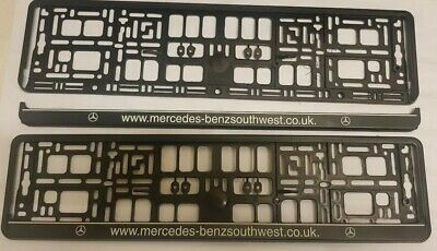 Genuine 2 x WURTH Mercedes-BenzNumber Plate Surrounds Holder Frame New