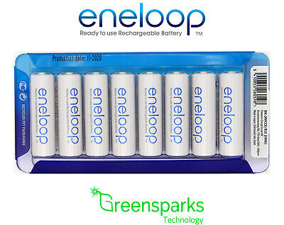 8x Panasonic Eneloop rechargeable LSD NiMH AA batteries 4th gen *Made in JAPAN*