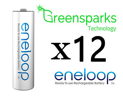 12x Panasonic Eneloop rechargeable LSD NiMH AA batteries 4th gen *Made in JAPAN*