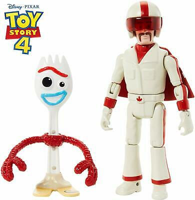 "Disney Pixar Toy Story Forky & Duke Caboom Figures, 4.3"" & 5.9&quot"