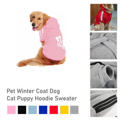 XS-2XL  Pet Winter Coat Dog Warm Color Clothing Casual Cat Puppy Hoodie Sweater