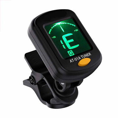 Electric Guitar Tuner LCD Clip-on Chromatic Acoustics Bass Ukulele Violin Useful