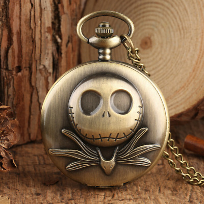 Retro Bronze Classic Unisex Analog Quartz Pocket Watch with Necklace Chain Gift