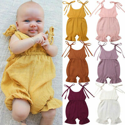 Toddler Newborn Baby Girls Cotton Clothes Sets Romper Bodysuit Jumpsuit Outfits
