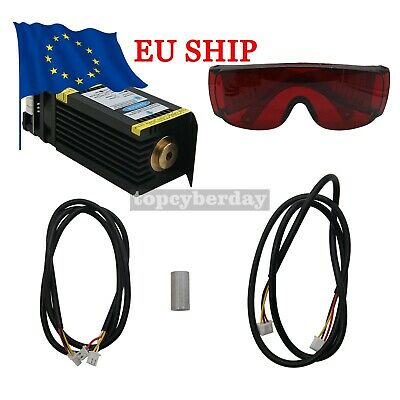 15W  Blue Laser Head Module for CNC Laser Engraving Machine Cutter+PWM 12V #DE