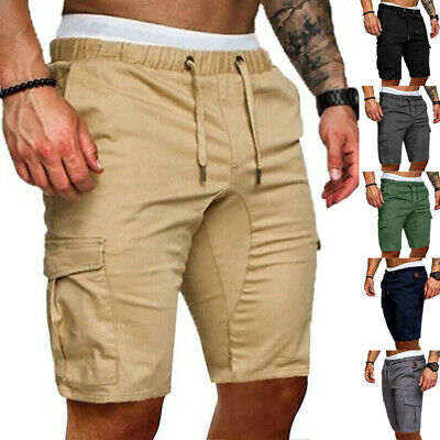 AU Mens Casual Camo Shorts Combat Short Pants Military Army Cargo Work Trousers