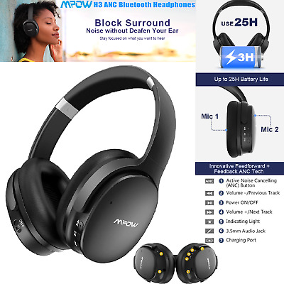 Mpow H10 Active Noise Cancelling Bluetooth Headphone Dual-Mic 2019 New Version