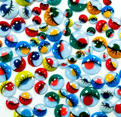 1000 Peel & stick eyelash wiggly googly craft eyes assorted colour & sizes