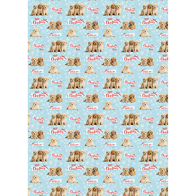 Cockapoo Christmas Gift Wrap Wrapping Paper - 5 sheets Gift/Present Dog