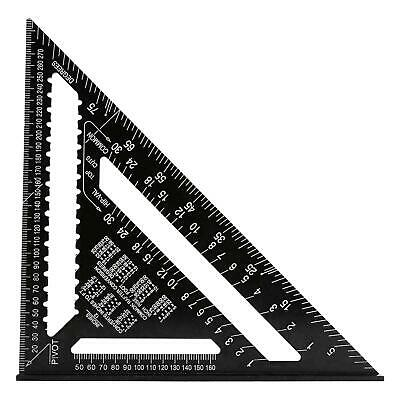 """30Cm 12"""" Roofing Speed Square Aluminium Rafter Angle Measure Triangle Guide Tool"""