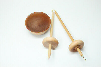 Complete Beginner Drop Spindle Spinning Kit - Mini Size - Learn To Spin Kit