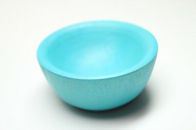 Tiny Teal Spinning Bowl - Natural Wood Spinning, Children's, or Accessories