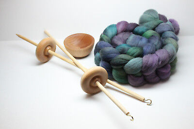Beginners Lace Weight Complete Drop Spindle Kit - Learn To Spin In Every Way