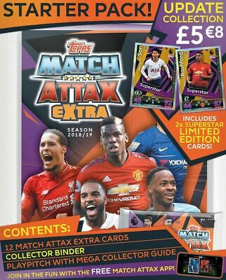 Topps Match Attax Extra Trading Card Game Premier League 2018/2019 Starter Pack