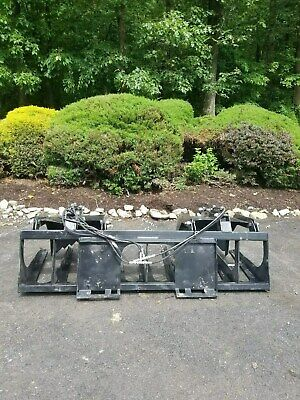 """New 84"""" Tine Grapple Bucket for Skid Steer/Tractor- fits Bobcat & more"""
