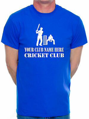 Customised Your Club Name Here Choose Your Team Name Cricket Mens T-Shirt Any