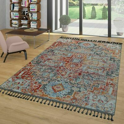 Incredible Shabby Chic Rug Modern Ethnic Abstract Carpet With Fringe Small Large Mats Multi Home Interior And Landscaping Fragforummapetitesourisinfo