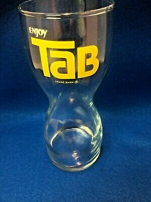 Vintage 1970's Coca Cola Enjoy Tab Drinking Glass Hourglass Shape soda