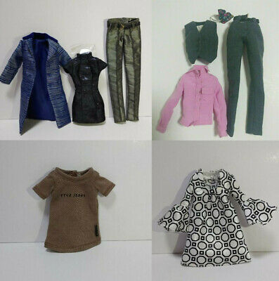 Poppy parker, Barbie, silkstone, Industry outfits lot
