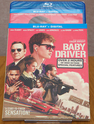 Baby Driver - Blu Ray Combo Set with Slipcover - New, Sealed
