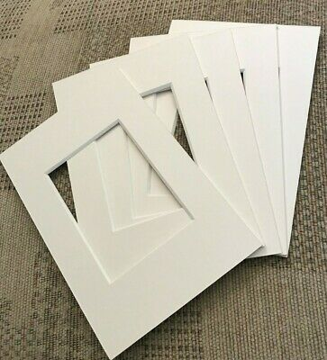 5 Soft White Picture Frame Mounts 6X4 Overall For 3.5 Inch X 2.5 Inch Photograph