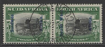 South West Africa Sg53 1927 5/= Black & Green Fine Used