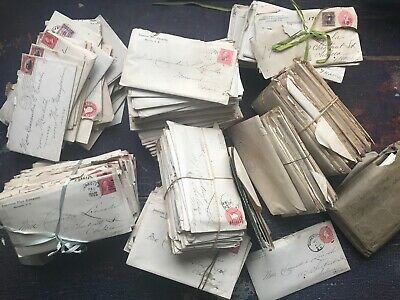 20 year Archive of Historical New England Handwritten Letters  Manuscript 1800s