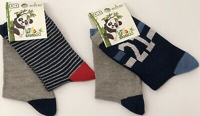 4 Pairs Boy's Kids Bamboo Soft Anti Bacterial Exclusive Socks 4-5 Years