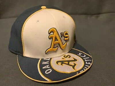 official photos 23ed8 e8dac New Era Oakland Athletics HOME 59Fifty Fitted Hat (Green White) MLB Cap Size