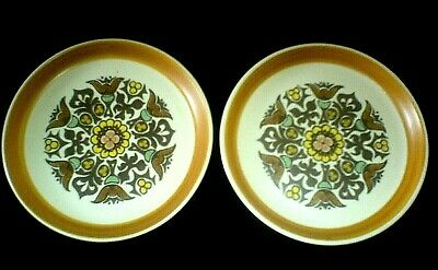DENBY LANGLEY CANTERBURY 6 ¾ inch Plates x 2 c1960 ( 4 available)