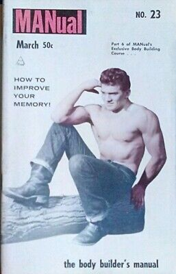 Vintage Gay interest magazine number 23 March 1961 body building