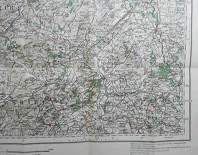 1913 old antique OS Ordnance Survey quarter-inch Second Series map 2 North East