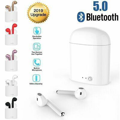 For iPhone 7 8 XS i7s TWS Bluetooth 5.0 Earbuds Wireless Earphones Headphones